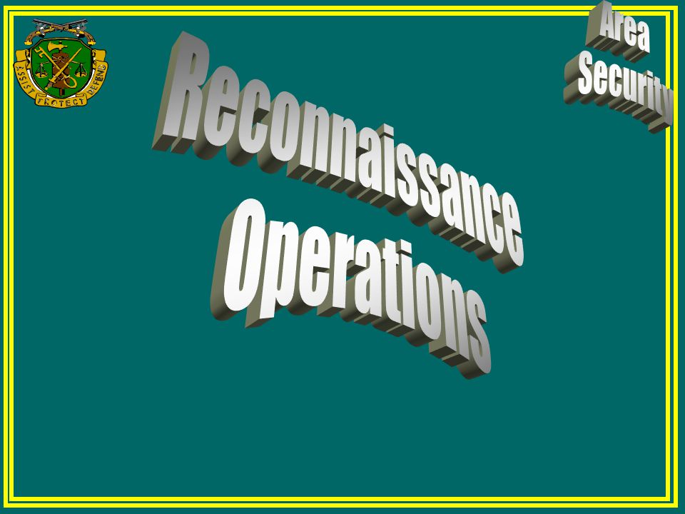 Reconnaissance Operations