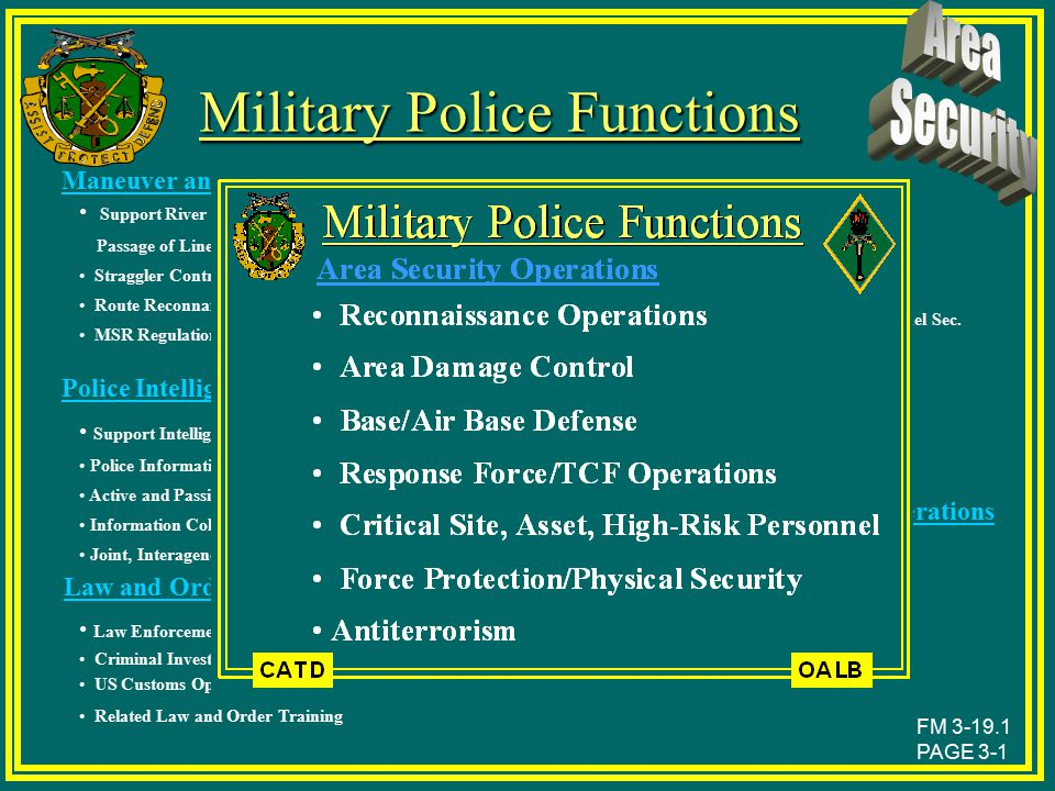 Military Police Functions
