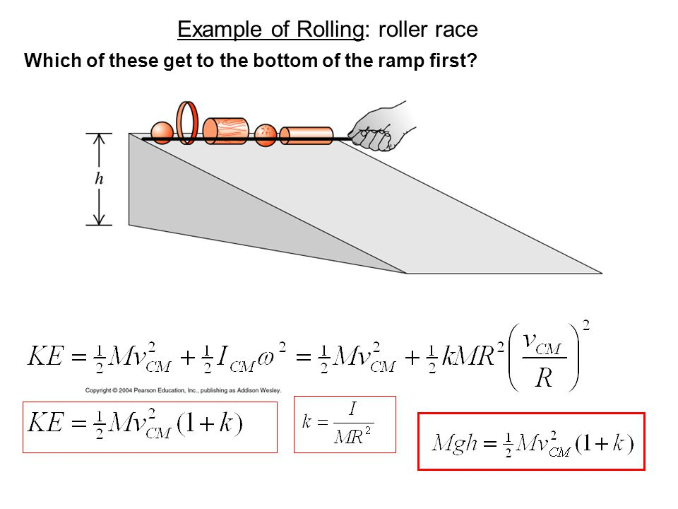 Example of Rolling: roller race