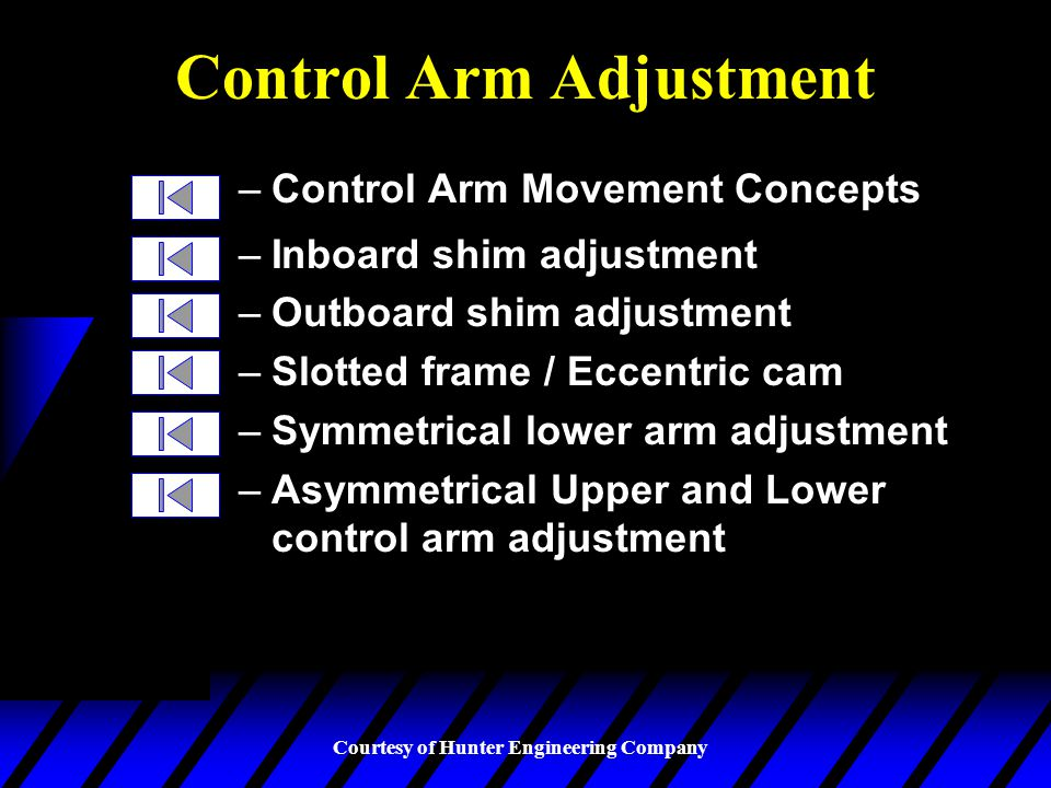Control Arm Adjustment