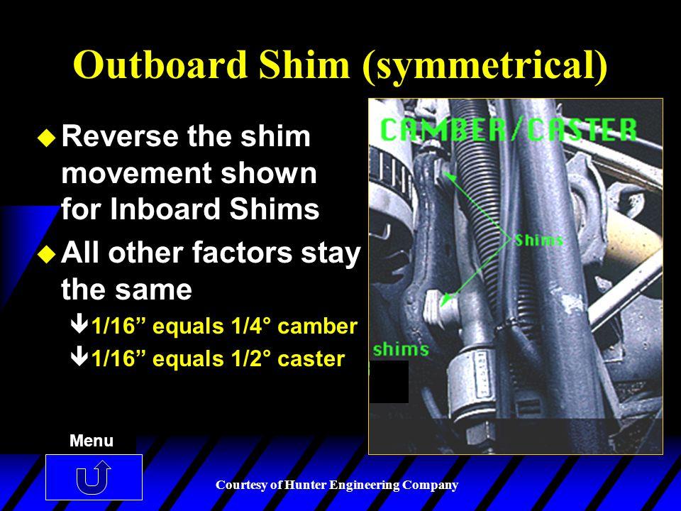 Outboard Shim (symmetrical)