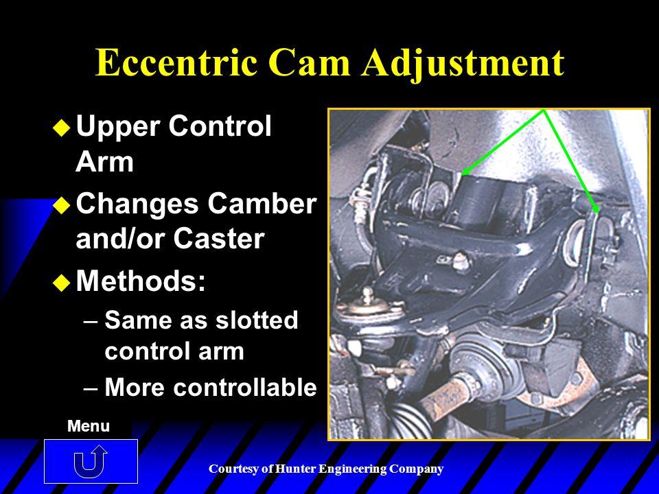 Eccentric Cam Adjustment