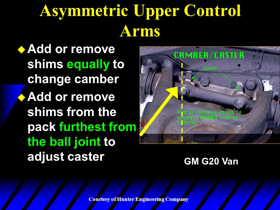 Asymmetric Upper Control Arms