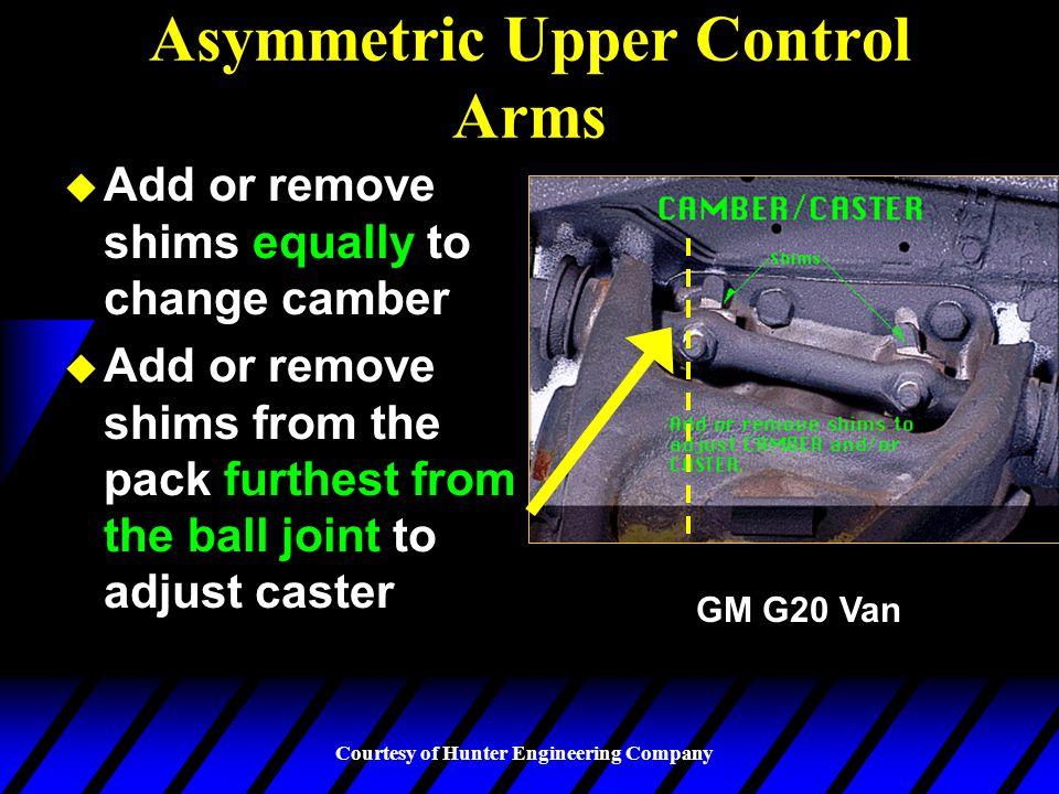 Asymmetric Upper Control Arms