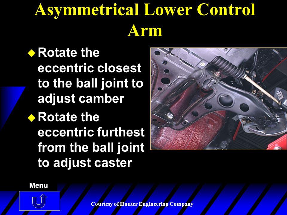 Asymmetrical Lower Control Arm