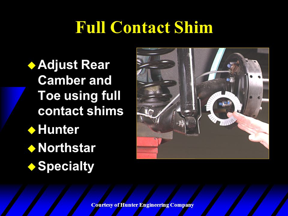 Full Contact Shim Adjust Rear Camber and Toe using full contact shims