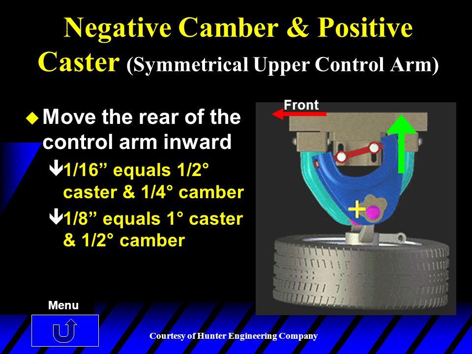 Negative Camber & Positive Caster (Symmetrical Upper Control Arm)