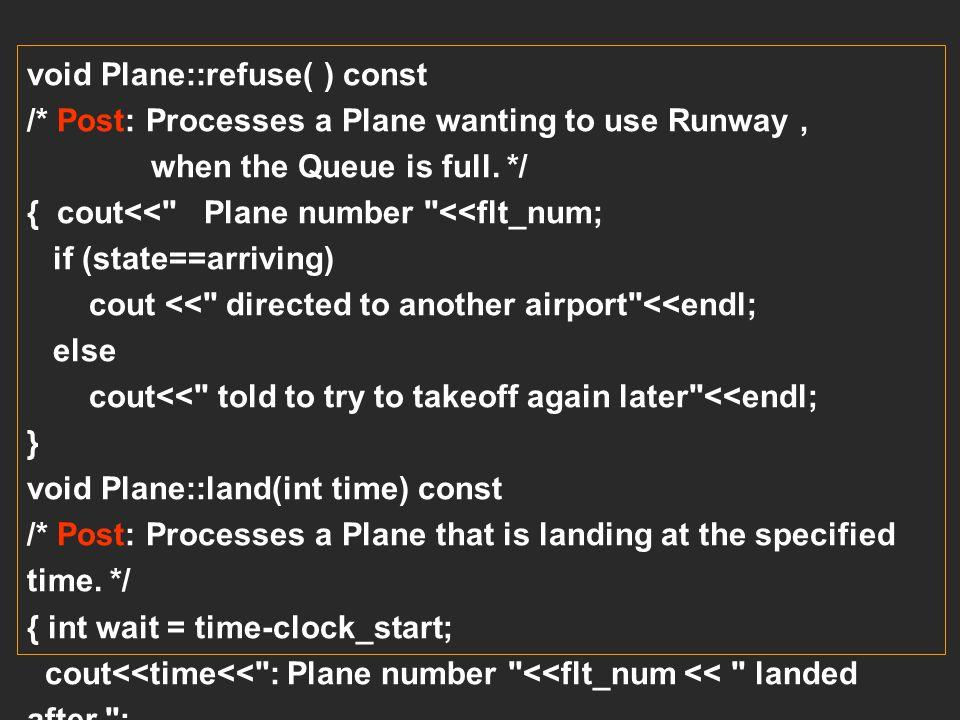 void Plane::refuse( ) const