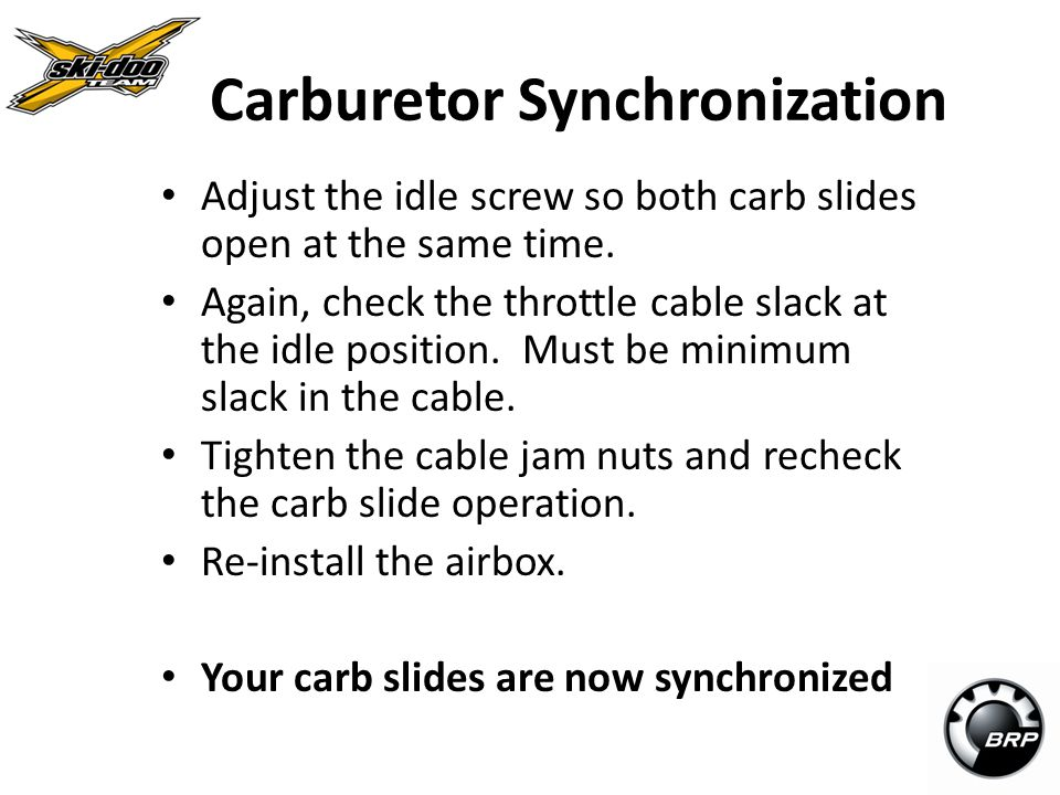 Carburetor Synchronization