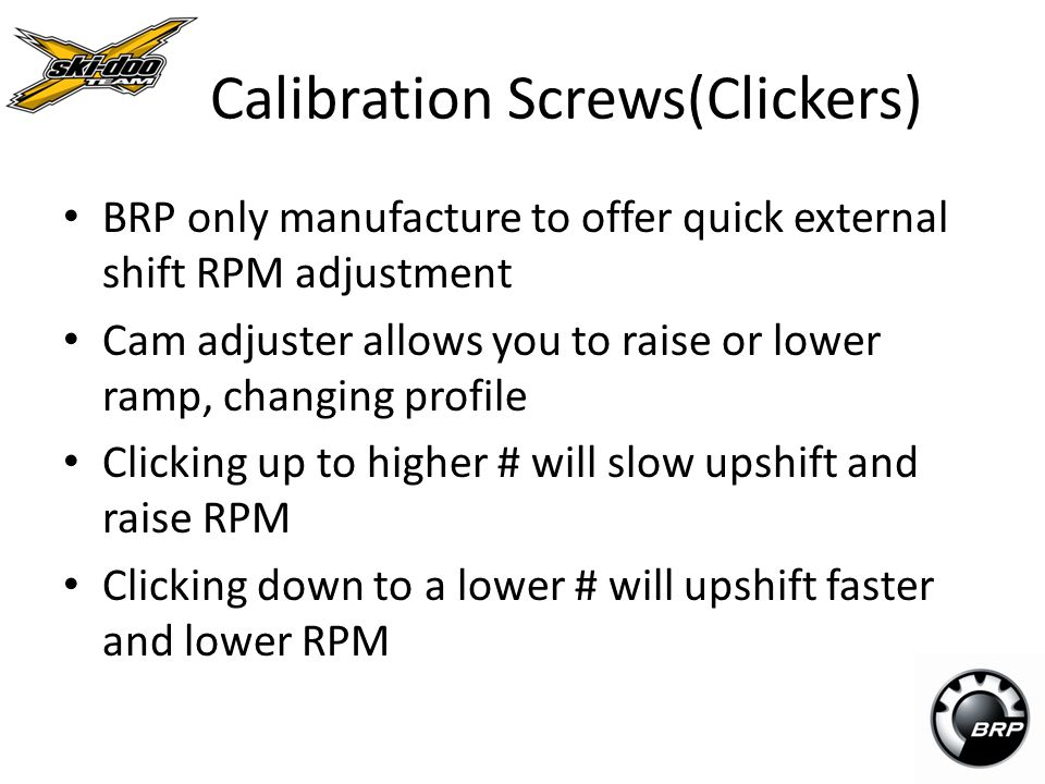 Calibration Screws(Clickers)