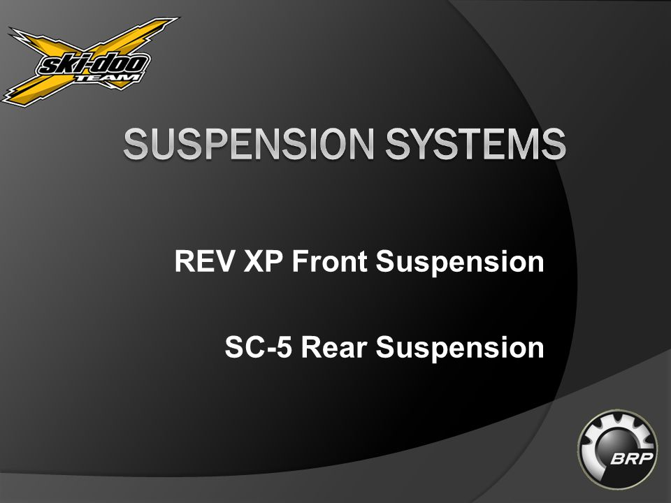 REV XP Front Suspension SC-5 Rear Suspension