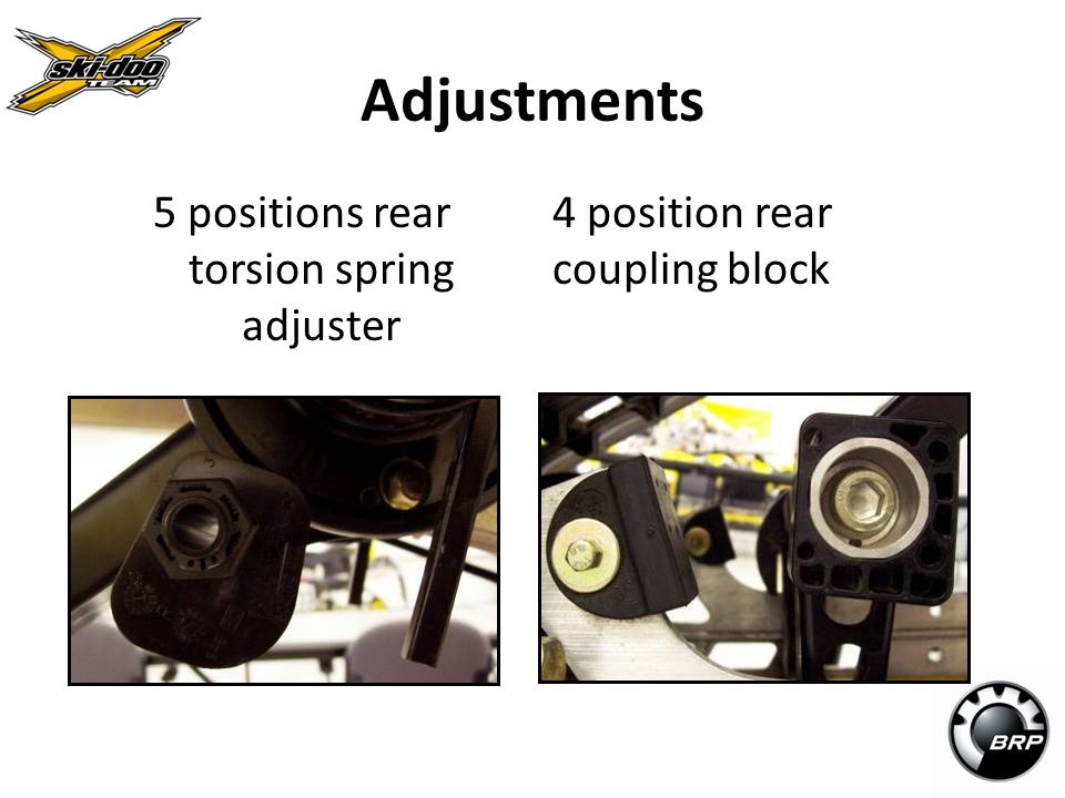 5 positions rear torsion spring adjuster