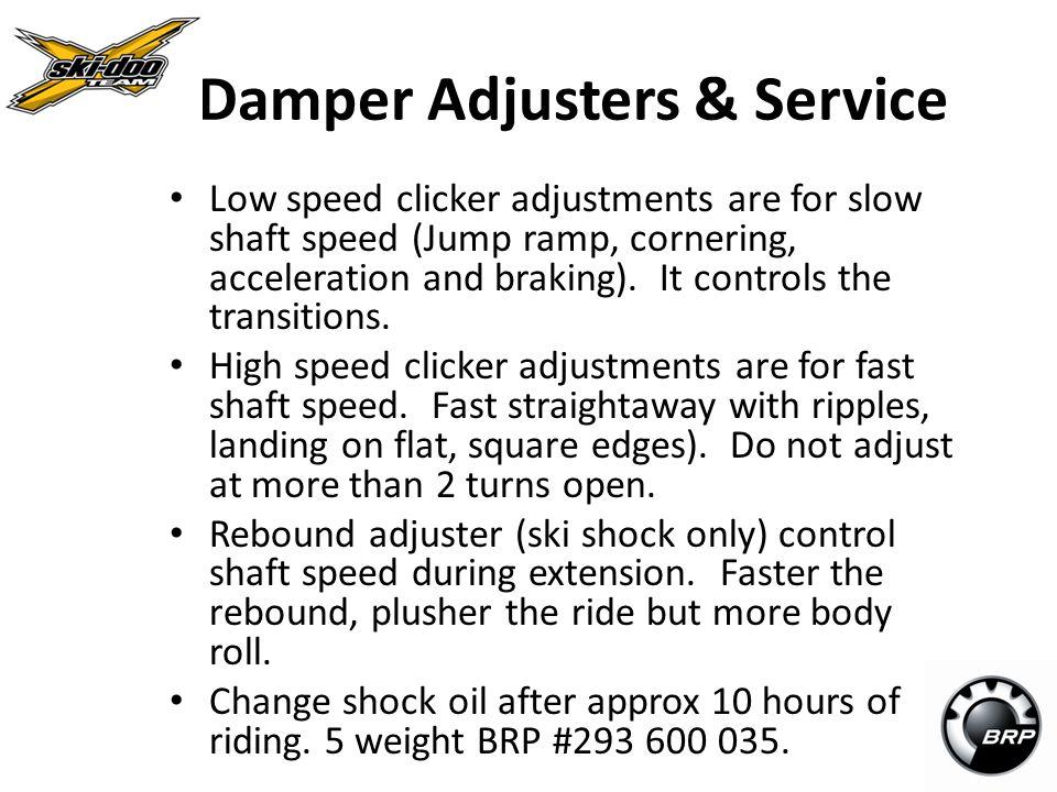 Damper Adjusters & Service