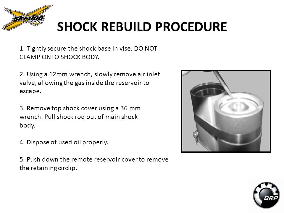 SHOCK REBUILD PROCEDURE