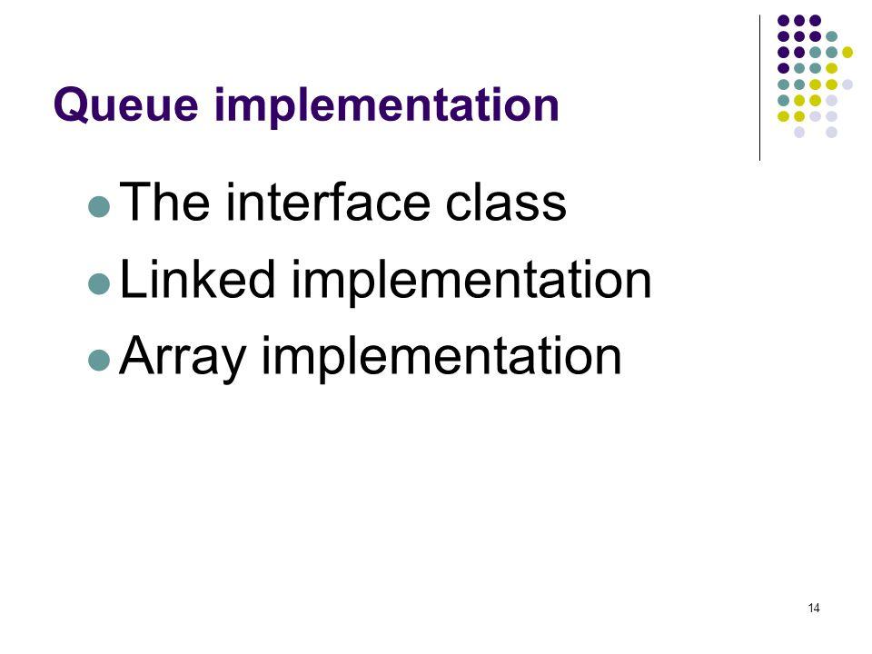Linked implementation Array implementation