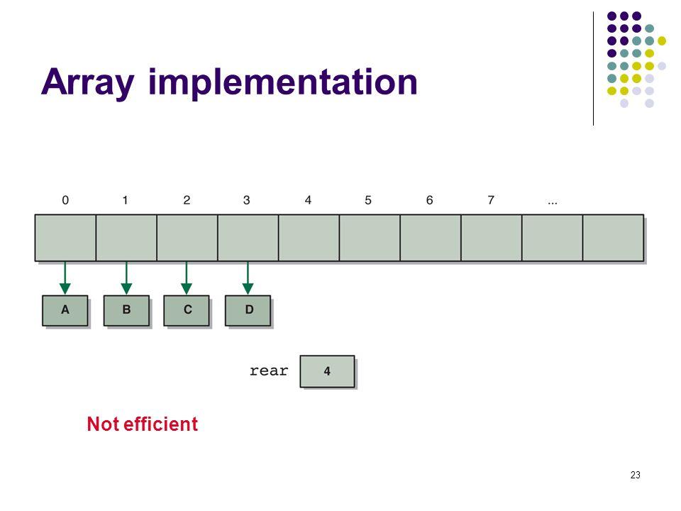 Array implementation Not efficient