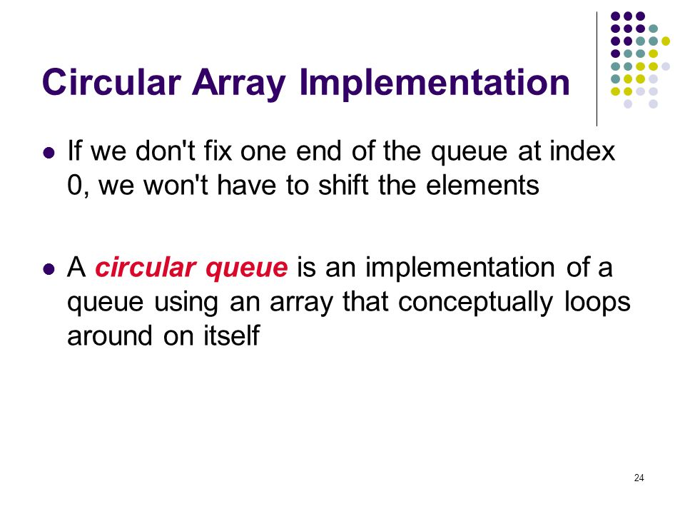 Circular Array Implementation