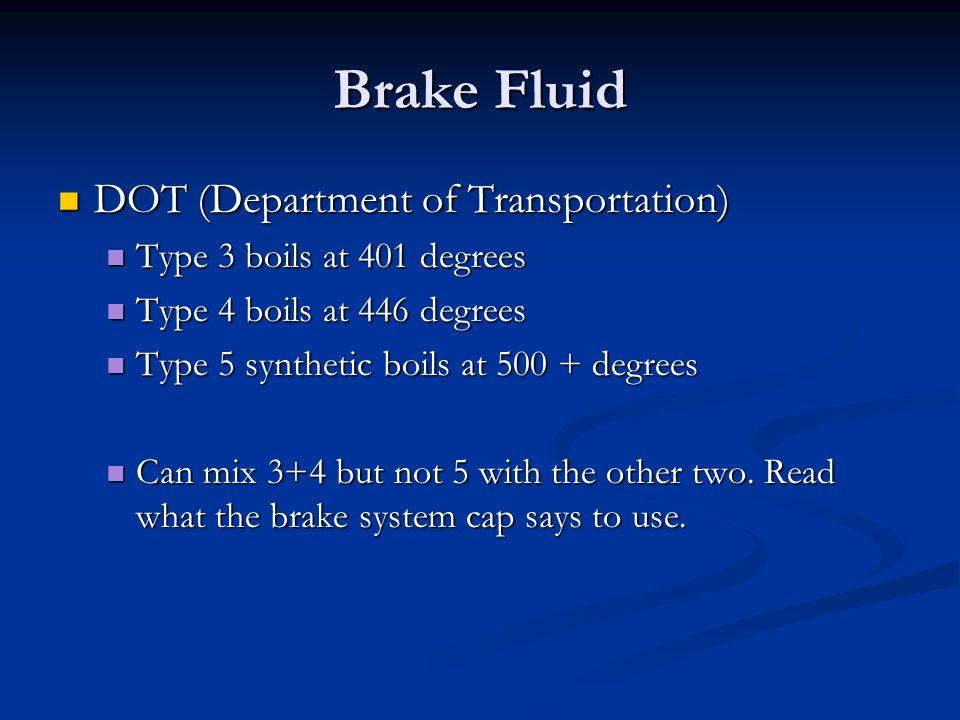 Brake Fluid DOT (Department of Transportation)