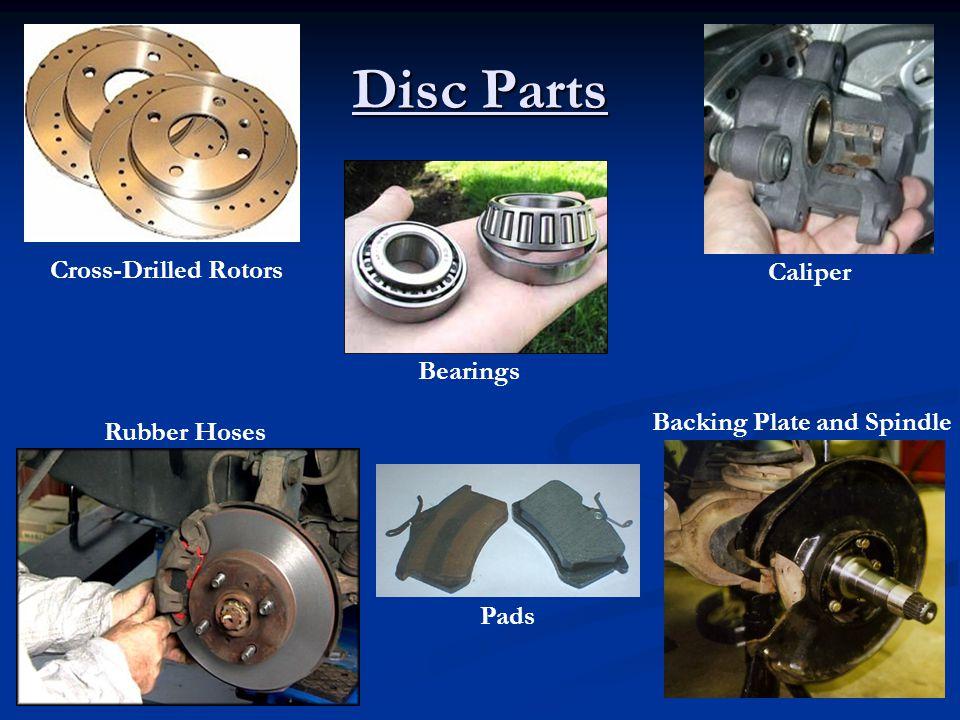 Disc Parts Cross-Drilled Rotors Caliper Bearings