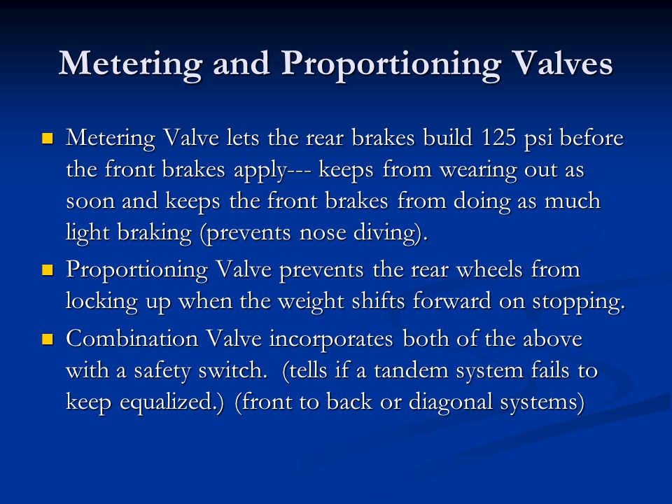 Metering and Proportioning Valves