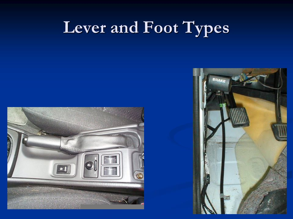 Lever and Foot Types