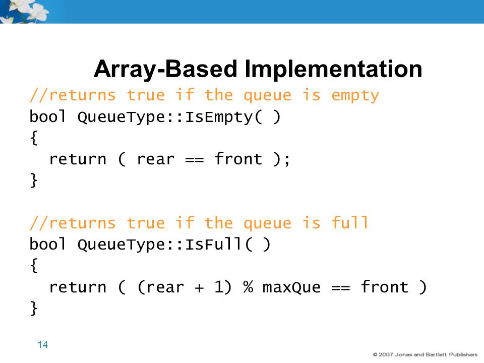 Array-Based Implementation