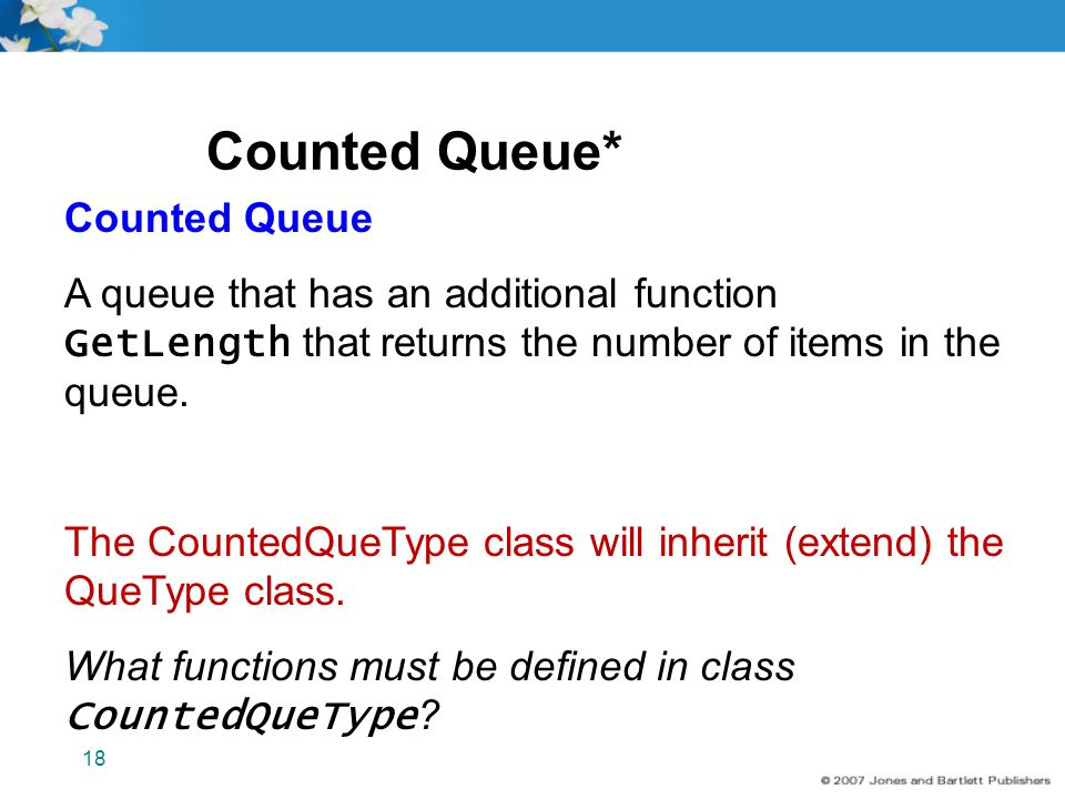 Counted Queue* Counted Queue