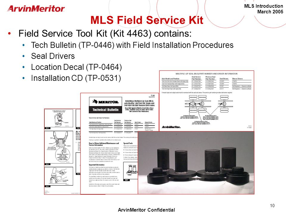 MLS Field Service Kit Field Service Tool Kit (Kit 4463) contains: