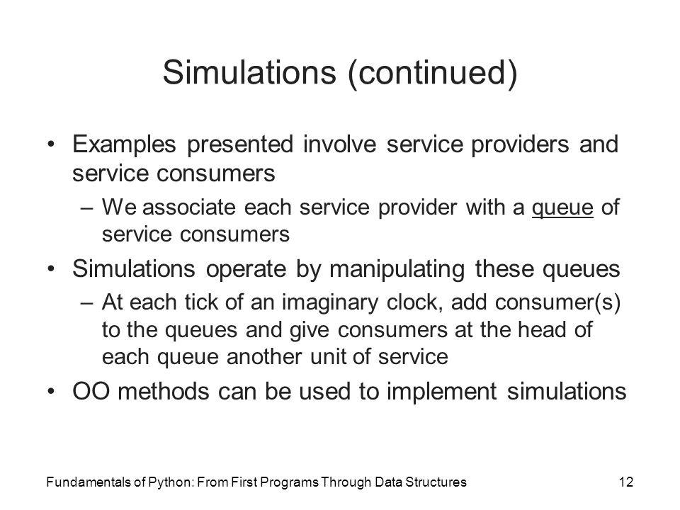 Simulations (continued)