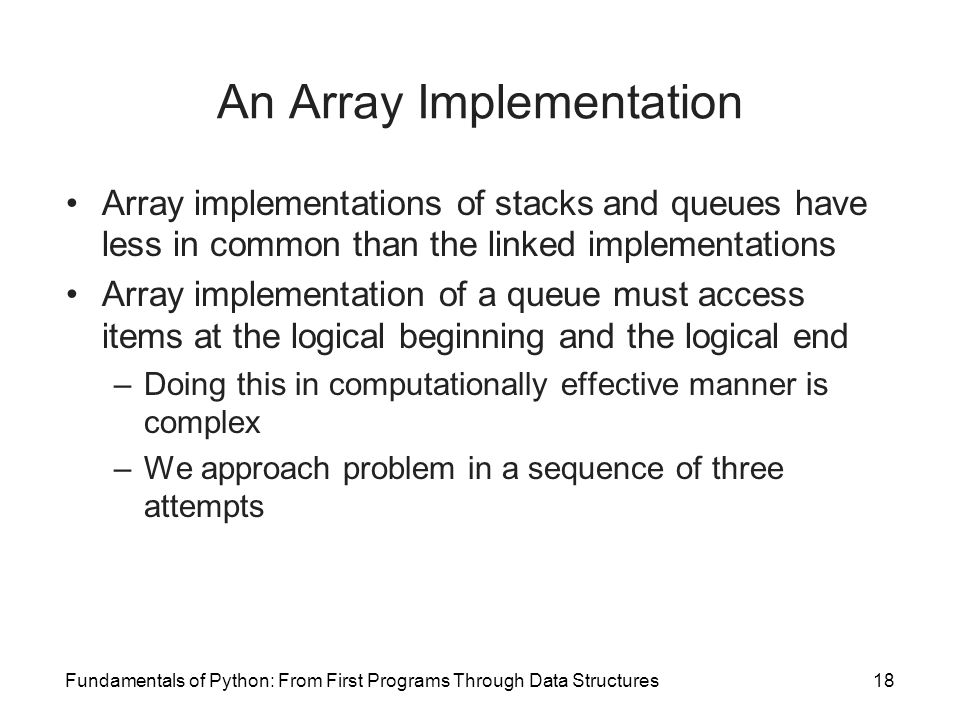 An Array Implementation