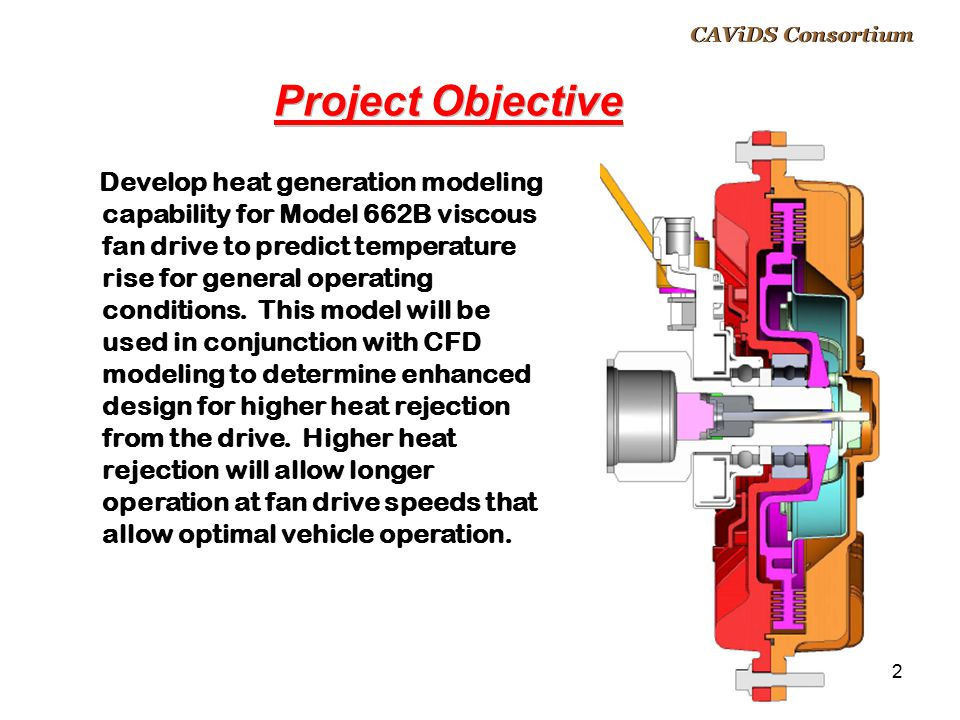 CAViDS Overview April 14, 2017. CAViDS Consortium. Project Objective.