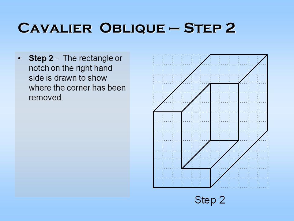 Cavalier Oblique – Step 2