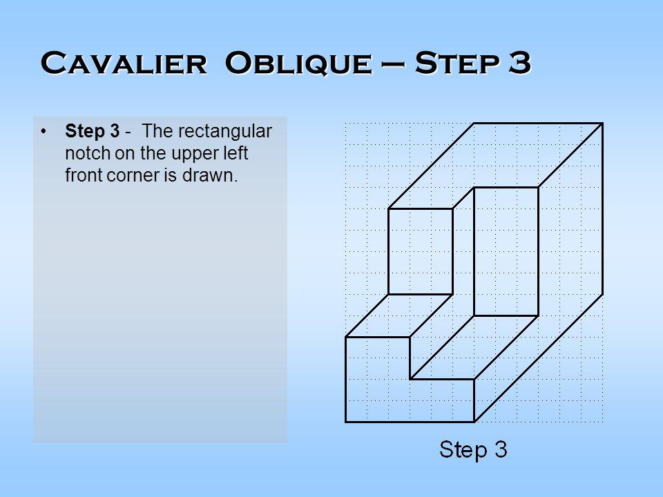 Cavalier Oblique – Step 3