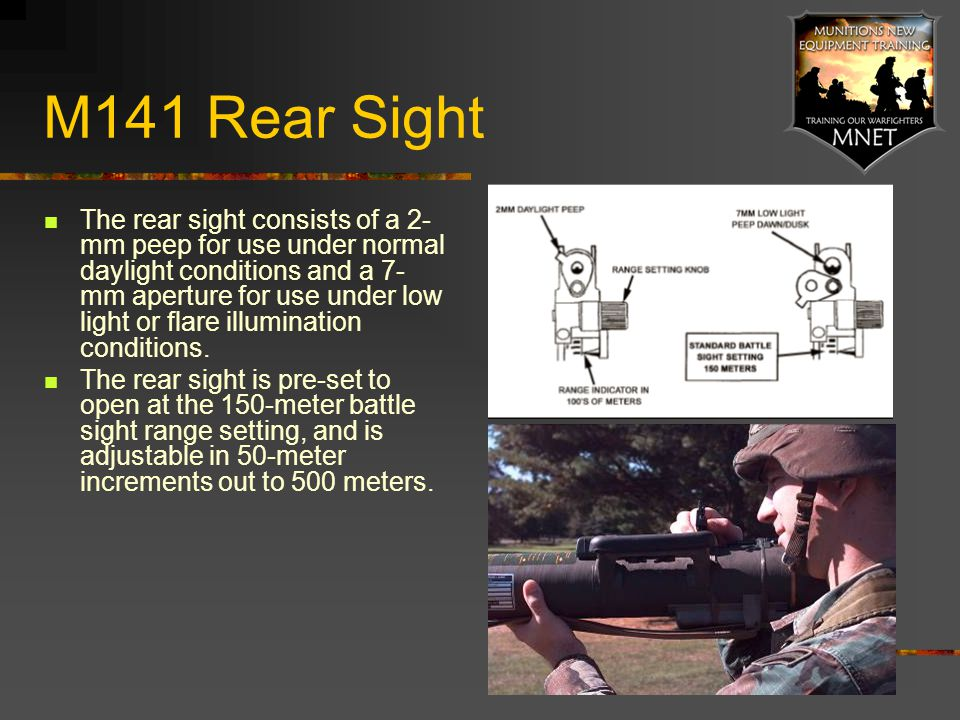 M141 Rear Sight