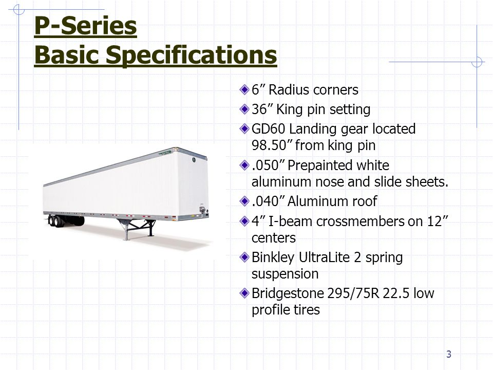 P-Series Basic Specifications