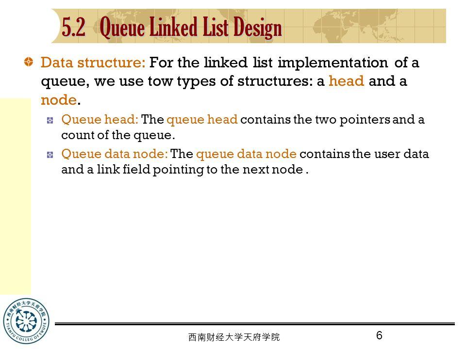 5.2 Queue Linked List Design
