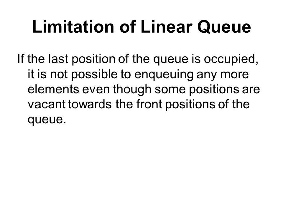 Limitation of Linear Queue