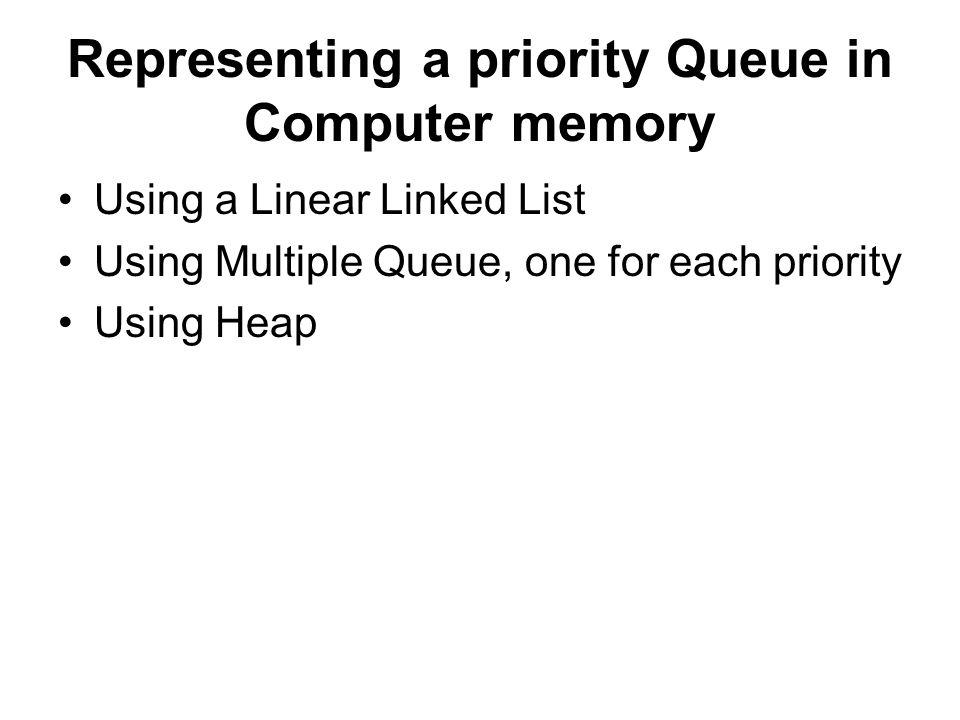 Representing a priority Queue in Computer memory