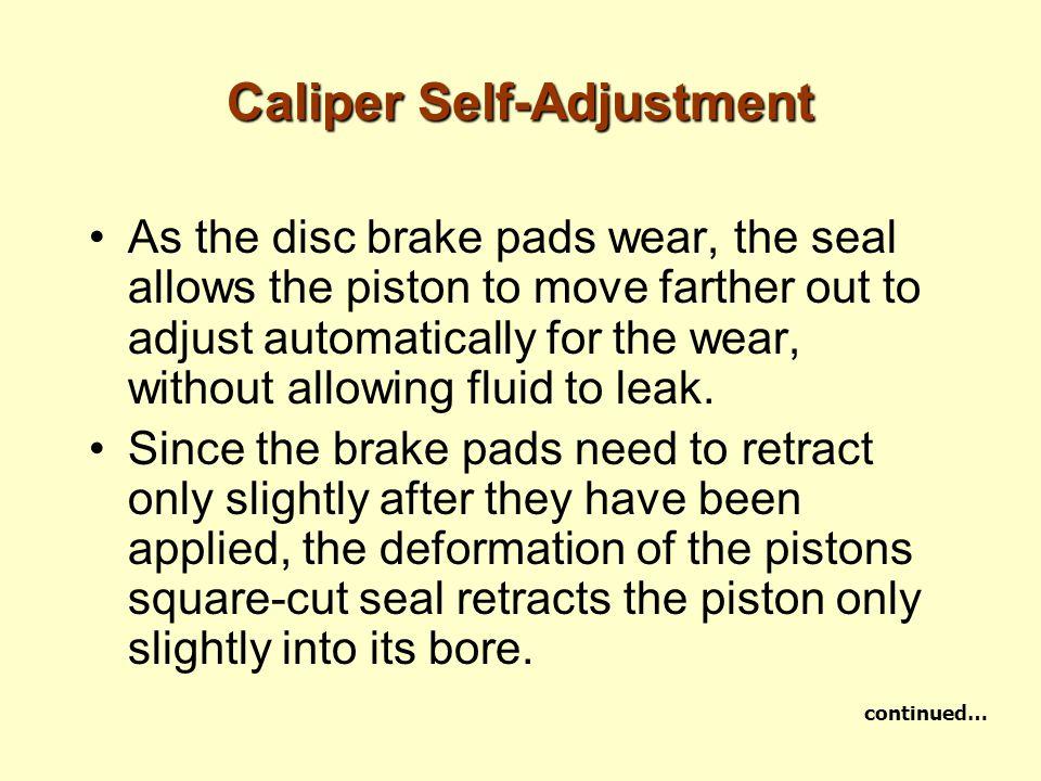 Caliper Self-Adjustment