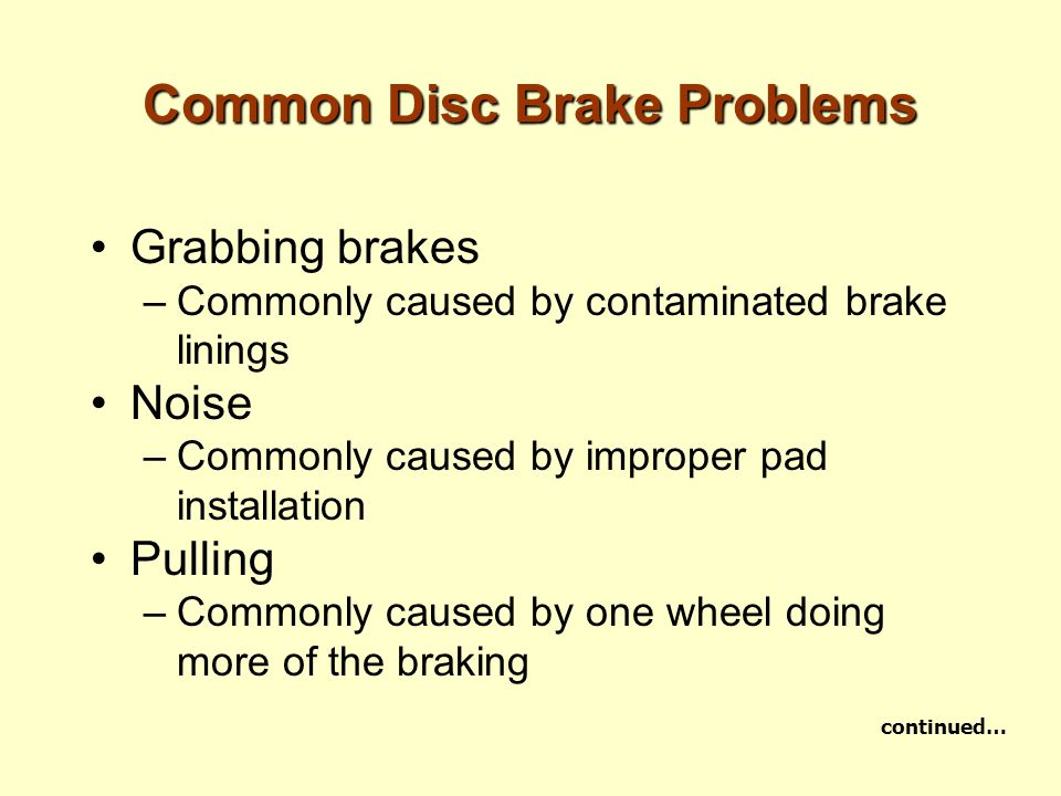 Common Disc Brake Problems