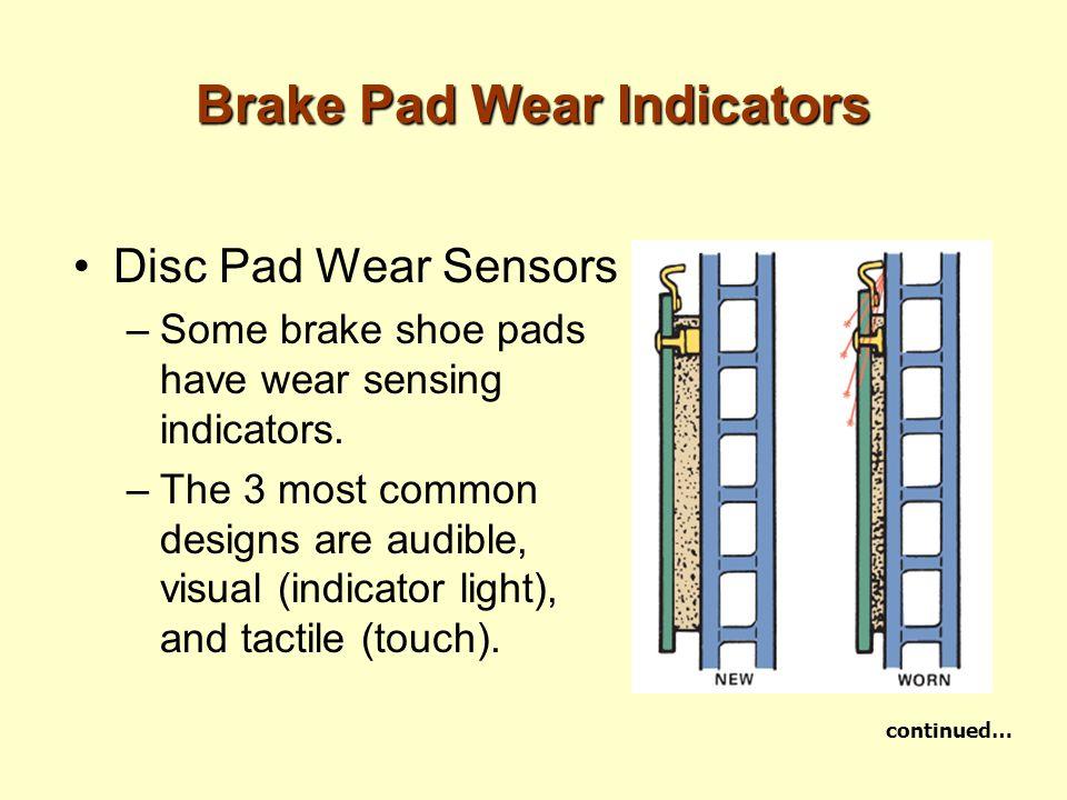 Brake Pad Wear Indicators