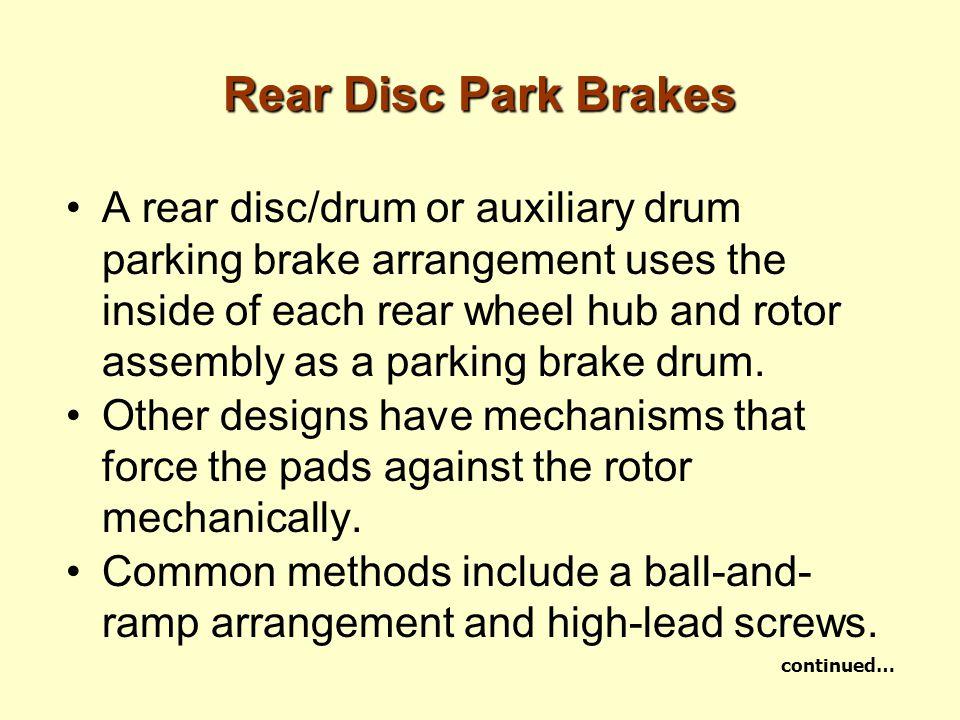 Rear Disc Park Brakes