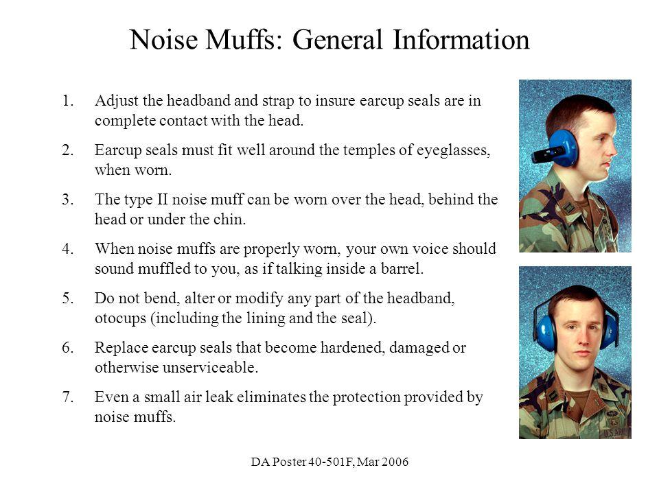 Noise Muffs: General Information
