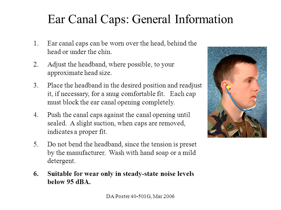 Ear Canal Caps: General Information