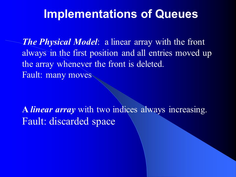 Implementations of Queues