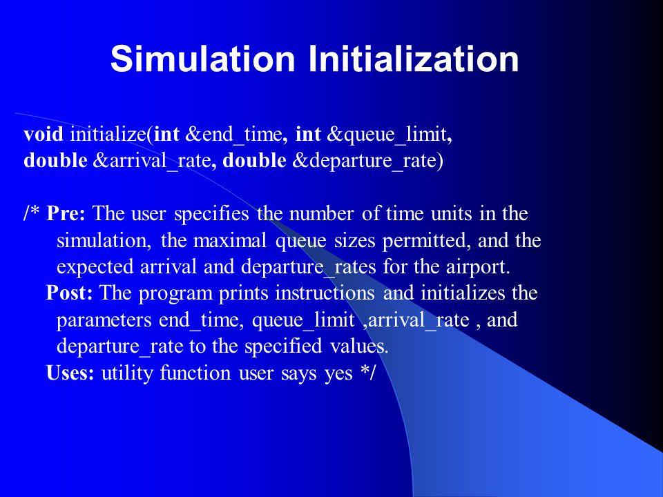 Simulation Initialization