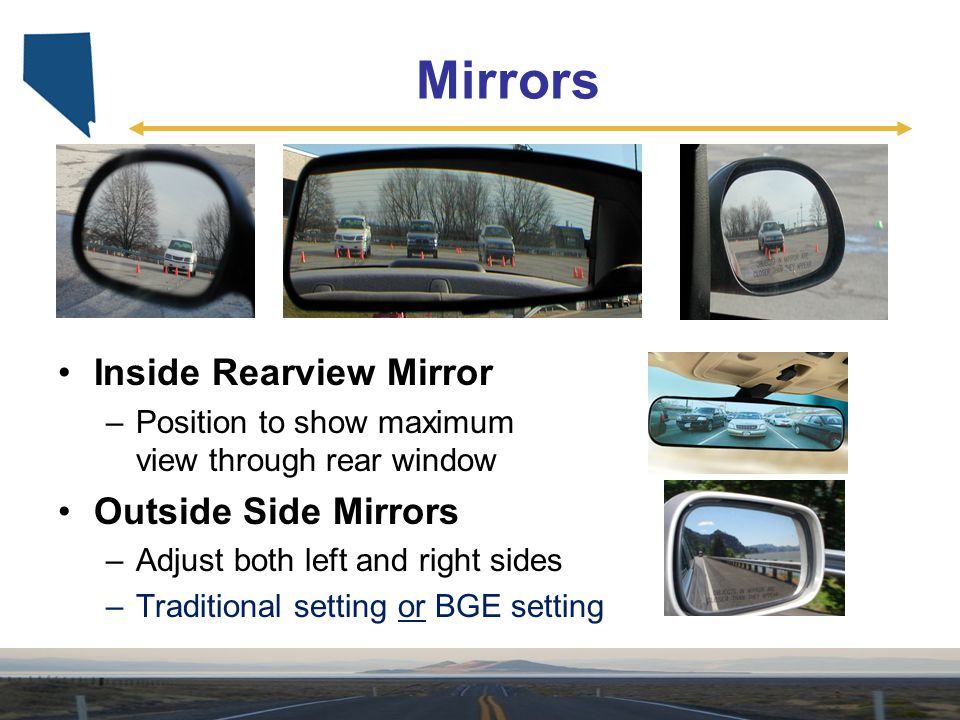 Mirrors Inside Rearview Mirror Outside Side Mirrors
