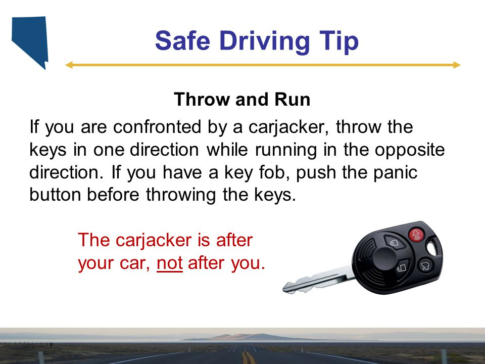 Safe Driving Tip Throw and Run