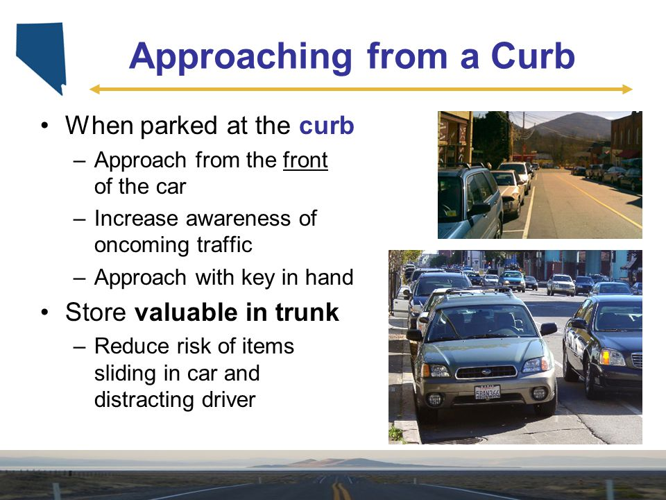 Approaching from a Curb