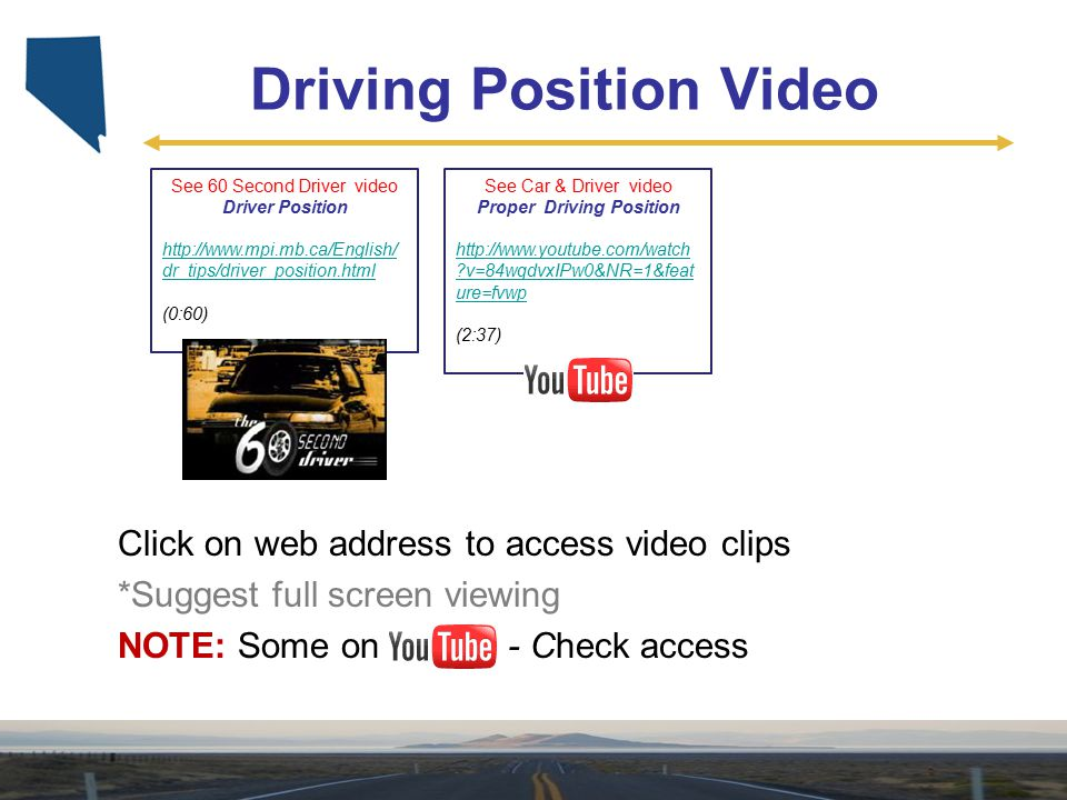 Driving Position Video